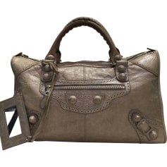 Leather Handbag BALENCIAGA Beige
