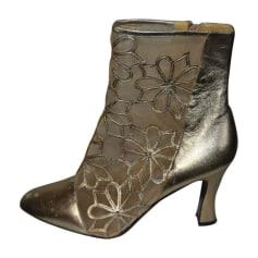 Bottines & low boots à talons BALDININI Doré, bronze, cuivre