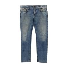 Jeans largo D&G Blu, blu navy, turchese
