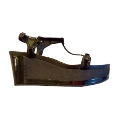 Sandales compensées PRADA Noir