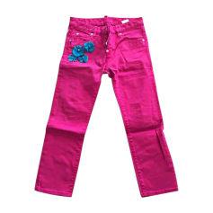 Jeans droit DSQUARED Rose, fuschia, vieux rose