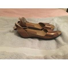 Sandales compensées BAGATT Doré, bronze, cuivre