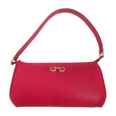 Leather Handbag SALVATORE FERRAGAMO Red, burgundy