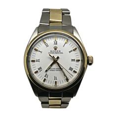 Armbanduhr ROLEX OYSTER PERPETUAL Weiß, elfenbeinfarben