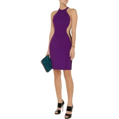 Abito a media lunghezza STELLA MCCARTNEY Viola/Nero