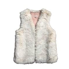 Fur Sleeveless Vest SANDRO White, off-white, ecru