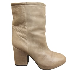 Bottines & low boots à talons ACNE Beige, camel