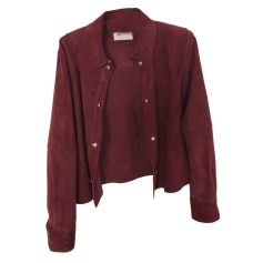 Zipped Jacket SANDRO Red, burgundy