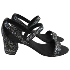 Heeled Sandals SANDRO Silver