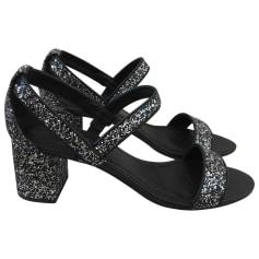 Sandales à talons SANDRO Argenté, acier