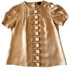 Top, tee-shirt BANANA REPUBLIC Doré, bronze, cuivre
