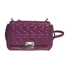 Leather Handbag K KARL LAGERFELD Purple, mauve, lavender