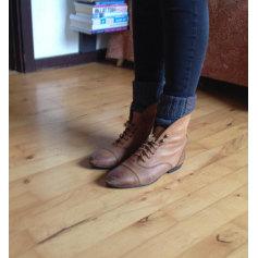 Bottines & low boots plates TOPSHOP Beige, camel