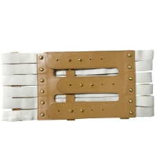 Wide Belt BY MALENE BIRGER Beige, camel