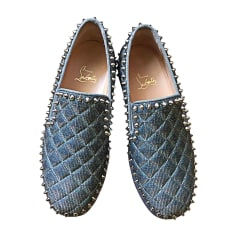 Baskets CHRISTIAN LOUBOUTIN Gris, anthracite