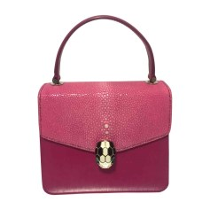 Leather Shoulder Bag BULGARI Pink, fuchsia, light pink