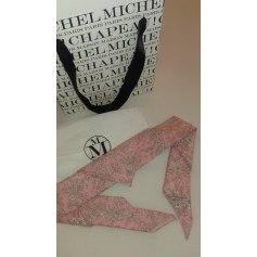 Scarf MAISON MICHEL Pink, fuchsia, light pink