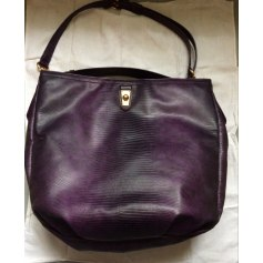 Leather Handbag Purple, mauve, lavender