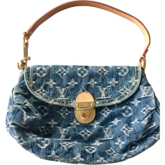 Non-Leather Clutch LOUIS VUITTON Blue, navy, turquoise
