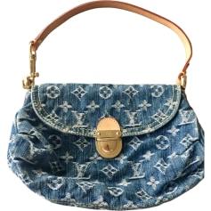 Sac pochette en tissu LOUIS VUITTON Bleu, bleu marine, bleu turquoise