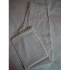 Pantalon large H&M Blanc, blanc cassé, écru