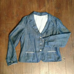 Veste en jean ARMANI Bleu, bleu marine, bleu turquoise