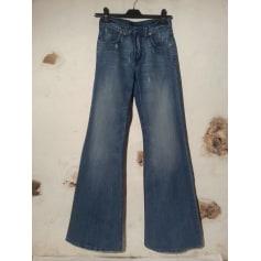 Jeans très evasé, patte d'éléphant HELLO KITTY BY VICTORIA COUTURE Bleu, bleu marine, bleu turquoise
