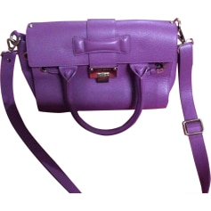 Leather Shoulder Bag JIMMY CHOO Purple, mauve, lavender
