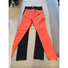 Jeans droit MANOUSH Noir / corail