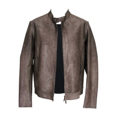 Leather Jacket EMPORIO ARMANI Brown