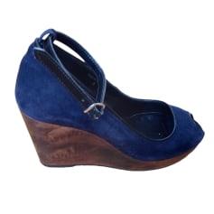 Sandales compensées COMPTOIR DES COTONNIERS Bleu, bleu marine, bleu turquoise