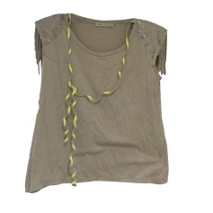 Top, tee-shirt AMBRE BABZOE Gris, anthracite