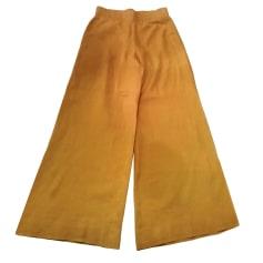 Pantalone largo MOSCHINO CHEAP AND CHIC Beige, cammello