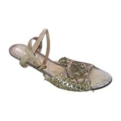 Sandales plates  BALMAIN Marron