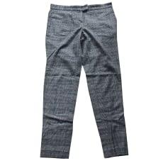 Straight Leg Pants MAJE Gray, charcoal