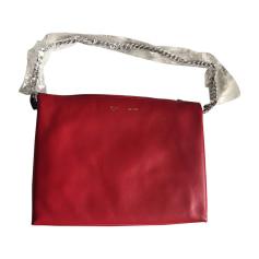 Sac pochette en cuir CÉLINE Rouge, bordeaux