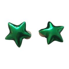 Boucles d'oreille AURELIE BIDERMANN Vert