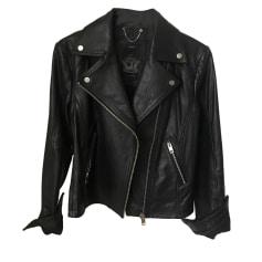 Leather Zipped Jacket DIESEL Black