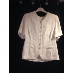 Blazer, veste tailleur MARCELLE GRIFFON Blanc, blanc cassé, écru