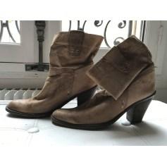 Bottines & low boots à talons PASTELLE Beige, camel
