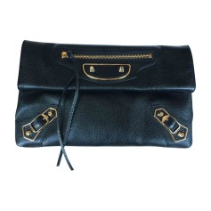 Leather Clutch BALENCIAGA Black