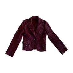 Blazer, veste tailleur BALMAIN Rouge, bordeaux