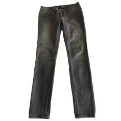 Jeans slim BLK DNM Gris, anthracite