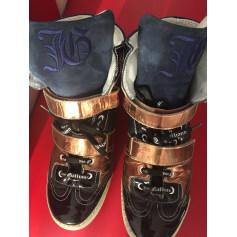 Lace Up Shoes JOHN GALLIANO Blue, navy, turquoise