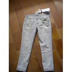 Jeans droit LIU JO Blanc, blanc cassé, écru