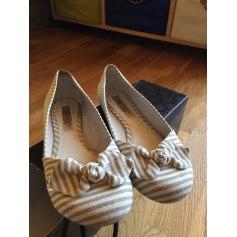 Ballet Flats MANGO White, off-white, ecru