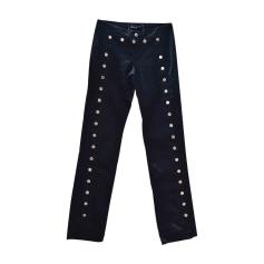 Pantalone dritto DOLCE & GABBANA Blu, blu navy, turchese