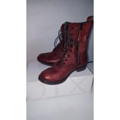 Bottines & low boots plates MJUS Rouge, bordeaux