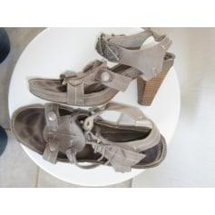 Sandales à talons REGARD Gris, anthracite