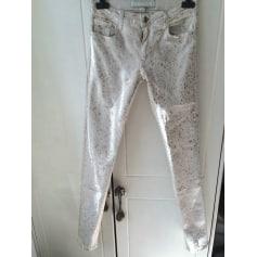 Pantalon slim, cigarette 75 FAUBOURG Blanc, blanc cassé, écru
